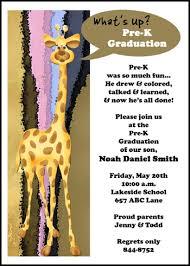 kindergarten graduation cards mr giraffie pre k graduation announcements invitations cards add