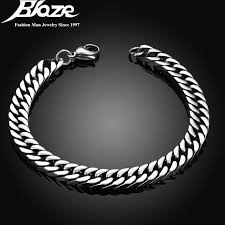 silver plated bracelet chain images 7mm silver plated bracelets bangles for man top quality 316l jpg