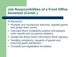 Information Desk Job Description Front Desk Job Description Job Description For Duty Manager