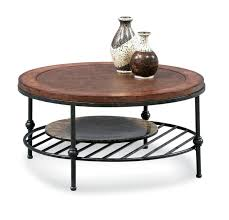 amazon com round cocktail table with faux leather top and gun