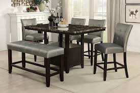 wood counter height table poundex f2461 1756 1757 6 pc arenth ii collection espresso finish