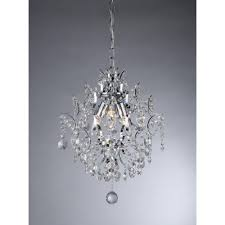 warehouse of tiffany ellaisse 3 light chrome crystal chandelier