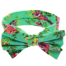newborn flowers print floral butterfly bow elastic hair band girls