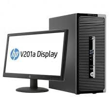 pc bureau avec ecran pc de bureau hp prodesk 400 g2 mt avec écran 19 45 k8k62es