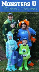 diy monsters university family themed costumes plus links to over