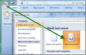 post in your blog from microsoft word 2007 undercover blog