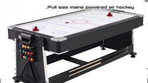 triumph sports 3 in 1 rotating game table 3 in 1 pool air hockey table tennis games youtube