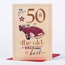 50th birthday card on your 50th only 89p
