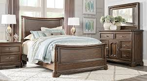 Sleigh Bedroom Furniture Home Notting Hill Cherry 5 Pc King Sleigh Bedroom