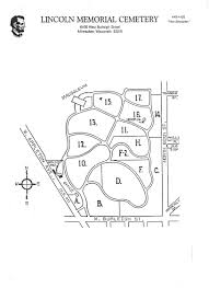 Milwaukee Wisconsin Map by Lincoln Memorial Cemetery Burials Interments Map Of Cemetery