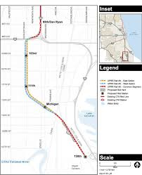 Cta Bus Route Map by The Cta Has Proposed Routes For A Red Line Extension To 130th Street