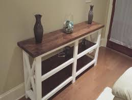 rustic x console table ana white rustic x console diy projects ana white rustic x