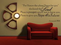 amazon com for i know the plans jeremiah 29 11 vinyl wall quote amazon com for i know the plans jeremiah 29 11 vinyl wall quote decal bible word gift idea home kitchen
