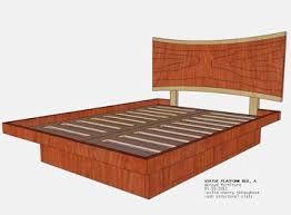 Custom Platform Bed Custom Platform Bed With Live Edge Headboard Drawers