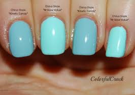 life in color comparison china glaze