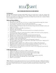 Cashier Job Description For Resume Duties Of A Receptionist Image Gallery Hcpr
