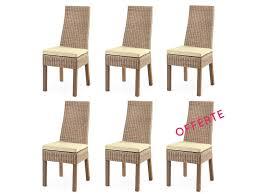 chaise rotin conforama soldes 48 lot de 6 chaises en osier calvi rotin design