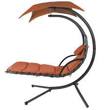 Outdoor Lounge Chair With Canopy Amazon Com Orange Color Handing Chair Garden U0026 Outdoor