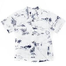 mens hawaiian shirt white map cruises vacations dude