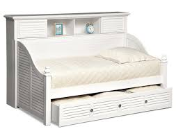 White And Cream Bedding Daybed Interior White Wooden Day Bed With Shelves And Storage