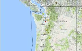 Oregon Earthquake Map by Minor Quake Detected In Tacoma The News Tribune