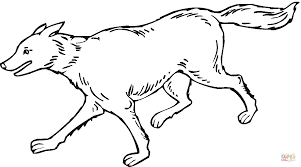 wolf is running coloring page free printable coloring pages