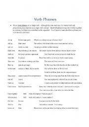verbal phrases worksheet free worksheets library download and