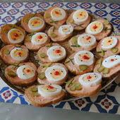 recette canapé apéritif facile recettes avec canape et toast sans fromage à tartiner la cuillère