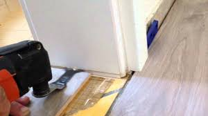 Laminate Flooring Door Frame Laying Laminate Around A Door Frame Laminat Verlegen Am