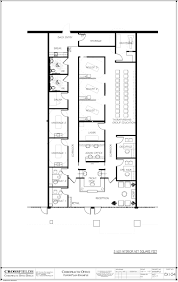 chiropractic office example with two corridors semi open adjusting
