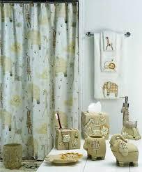 jungle shower curtain interdesign anzu shower curtain jungle