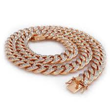 rose gold rope chain bracelet images Iced out and solid style 18k rose gold necklaces and chains jpg