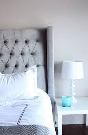 Grey Tufted Headboard Gray Tufted Headboard Queen Home Design Ideas