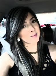 dark hair with grey streaks silver highlights google search new hair pinterest silver