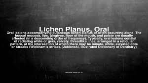 medical vocabulary what does lichen planus oral mean youtube