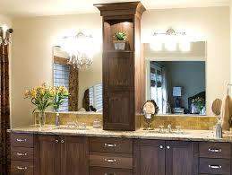 double sink vanity with middle tower beautiful double vanity with tower interior design white double