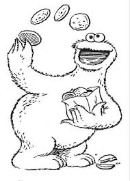 trendy cookie monster coloring page cookie monster coloring page