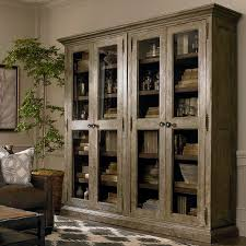 Lighted Display Cabinet Tall Wood Double Display Cabinet