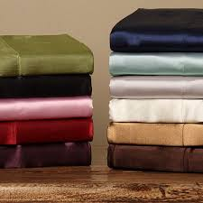 Full Size Bed Sheet Sets Silky Satin Twin Full Size Satin Sheet Set Free Shipping On