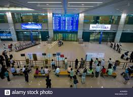 people waiting arrivals area grand incheon international airport