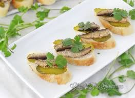 food canapes sprats and pickles tea sandwiches canapes olga in the kitchen