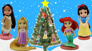 disney princess magical christmas tree toy figurine ornaments new