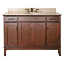 avanity single 49 inch traditional bathroom vanity tobacco