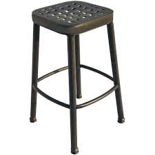Outdoor Patio Furniture Bar Height Bar Stools Cast Aluminum Bar Stools Furniture Style Cast