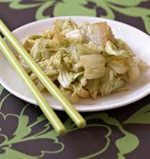 cuisiner le chou chinois chou chinois sauté au gingembre les meilleures recettes de cuisine