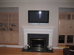 hide cables wall mount tv fireplace cord free mantel how to hide