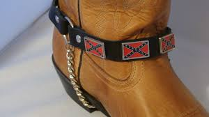 Confederate Flag Wallet Pair Rebel Confederate Flag Cowboy Boot Chains