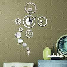 aliexpress com buy 1set hot fashion diy home decoration mirror aliexpress com buy 1set hot fashion diy home decoration mirror surface of the mirror wall stickers clock living room wall clock 2 colors from reliable