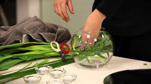 Goldfish In A Vase How To Make A Table Flower Arrangement Using A Fishbowl Youtube