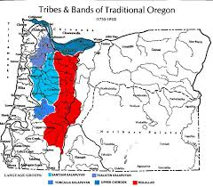map tribes and bands of traditional oregon